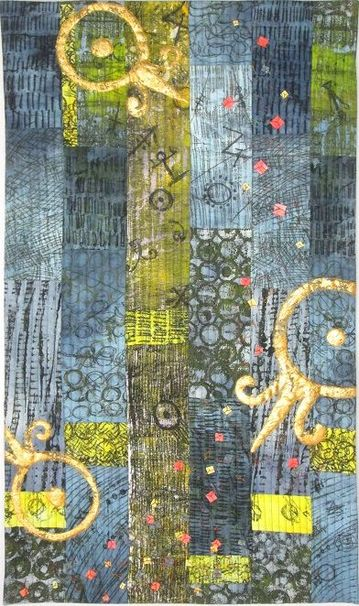 Chrysopoeia Art Quilt by Claire Passmore