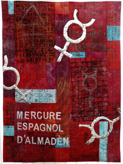 Dragon's Blood Art Quilt by Claire Passmore